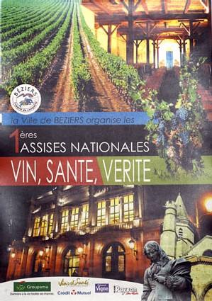 Premières Assises Nationales : VIN, SANTE et VERITE.