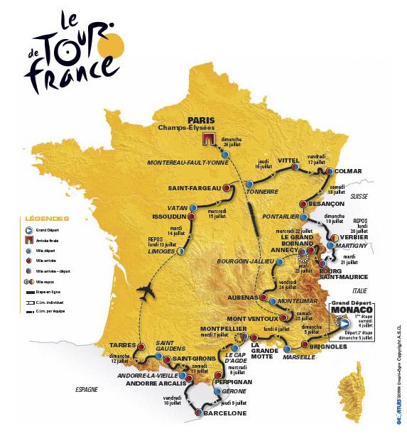 Tour de France cycliste - 13° étape : Vittel – Colmar