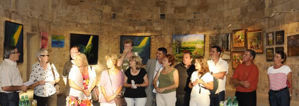 Les élus et les artistes le soir du vernissage