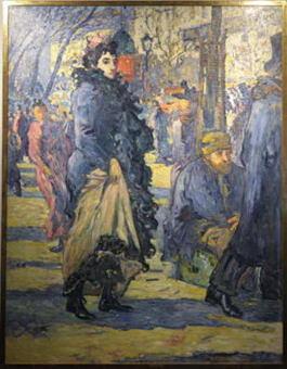 Louis Valtat - Sur le boulevard (1892) Fondation Bemberg © ADAGP Paris 2001 © photo Yvan Marcou