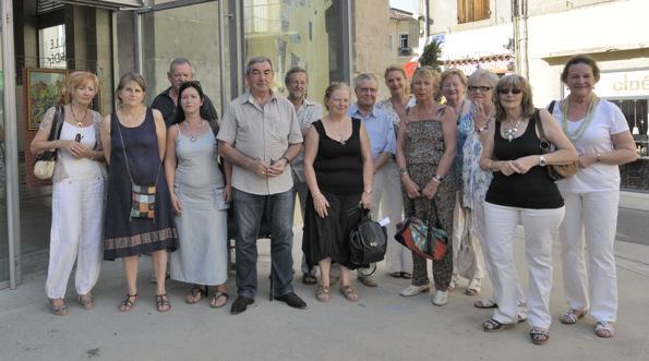 Les artistes présents à l'occasion du vernissage le 13 août 2011.