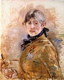 Berthe Morisot - autoportrait 1885 (huile sur toile)