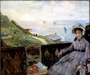 Sur la terrasse - 1874 (huile sur toile)