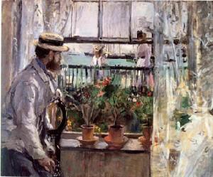 Eugène Manet à l'île de Wight - 1875 (Huile sur toile)