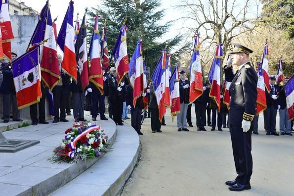 Dépôt de gerbe au Monument des Martyrs de la résistance - Montpellier - 14/01/2013 - photo Yvan Marcou