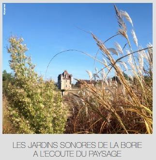 Les jardins sonores de La Borie