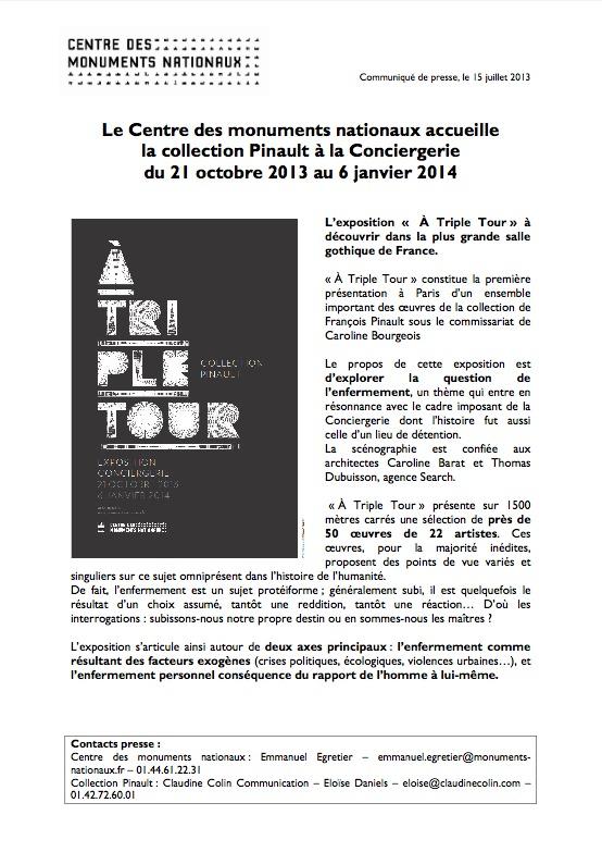 """Exposition """"A triple tour"""""""