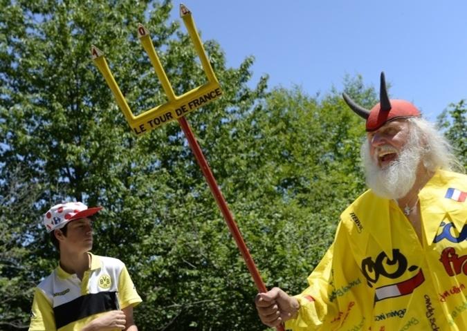 El Diablo 2013. Personnage emblématique du Tour de France. Photo Yvan Marcou
