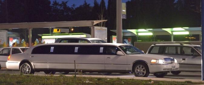 Limousine dans les rues de Montpellier