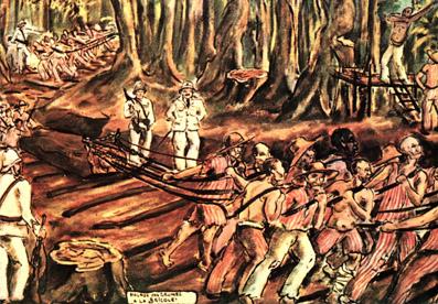 La bricole - Peinture de  Francis Lagrange - bagnard