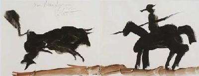 Picasso, Picador et taureau, 1963 © Succession Picasso 2007