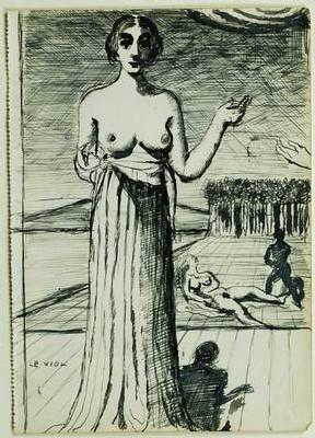 Delvaux, Etude pour le tableau Le viol, 1936 © Fondation Paul Delvaux, St Idesbald, Belgique / ADAGP, Paris 2007