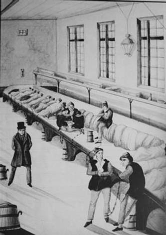 Une salle au bagne de Rochefort.