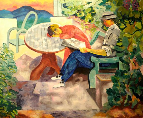 La sieste à Saint-Tropez - Kisling avec Renée (1916) - photo Yvan Marcou