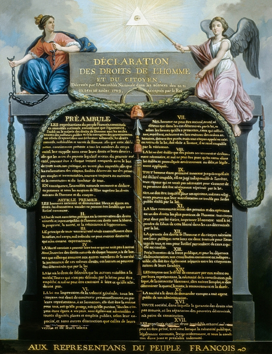 Déclarations des droits de l'homme : liberté de pensée et d'opinion.